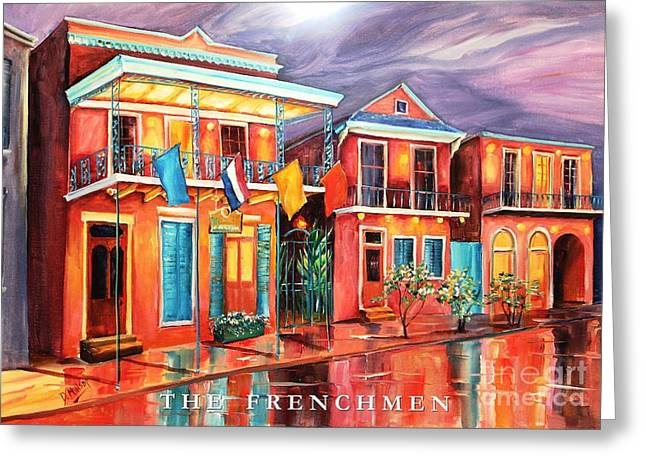 Neighborhoods Greeting Cards - The Frenchmen Hotel New Orleans Greeting Card by Diane Millsap