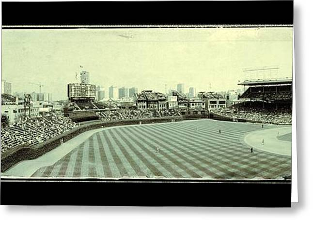 The Friendly Confines Greeting Card by Jame Hayes