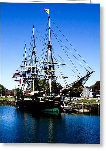 Historic Schooner Greeting Cards - The Friendship of Salem Greeting Card by  Bob and Nadine Johnston