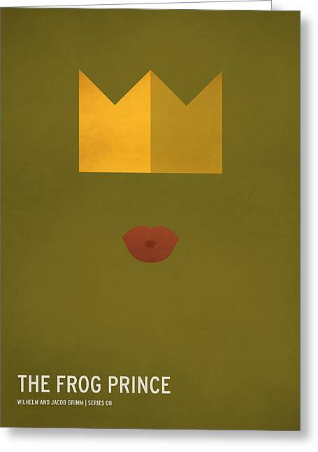 Children Art Prints Greeting Cards - The Frog Prince Greeting Card by Christian Jackson
