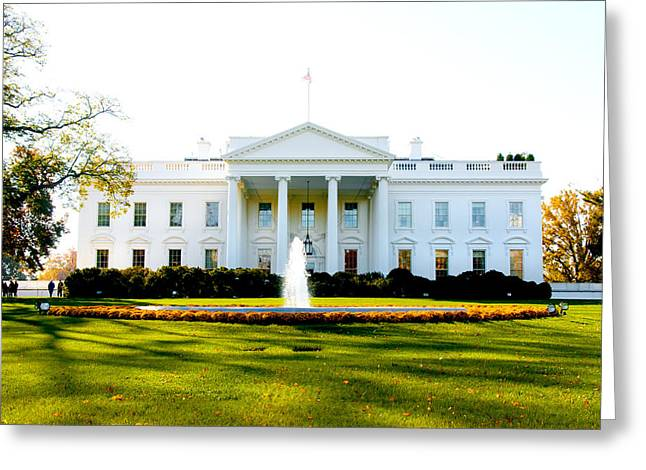 The White House Photographs Greeting Cards - The Front Door Greeting Card by Greg Fortier