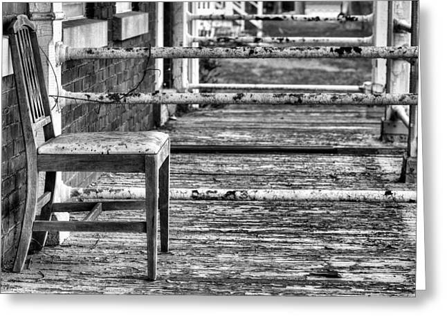 The Front Greeting Cards - The Front Porch BW Greeting Card by JC Findley