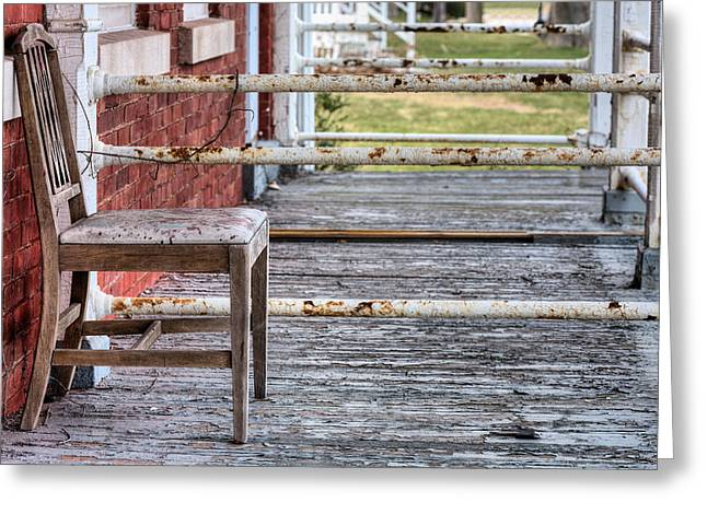 New Thoughts Greeting Cards - The Front Porch Greeting Card by JC Findley