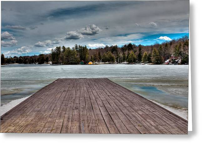 Patterson House Greeting Cards - The Frozen Old Forge Pond in the Adirondack Mountains Greeting Card by David Patterson