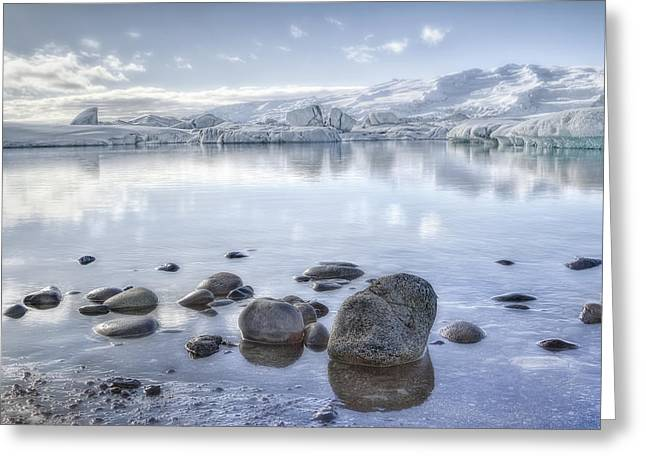 N.j. Greeting Cards - The Frozen World Greeting Card by Evelina Kremsdorf