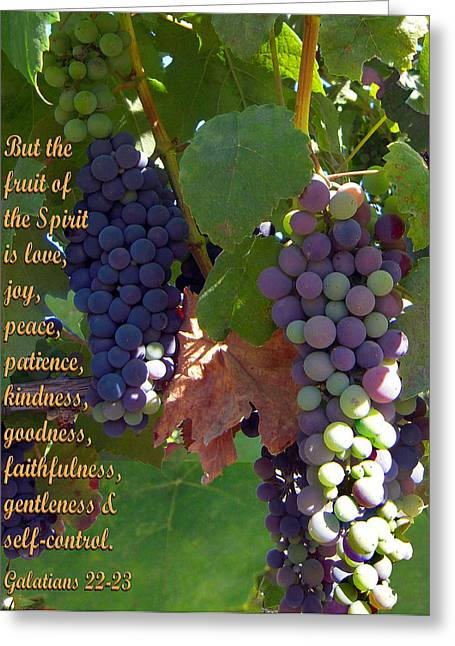 Syrah Greeting Cards - The Fruit Of The Spirit Greeting Card by Michele  Avanti