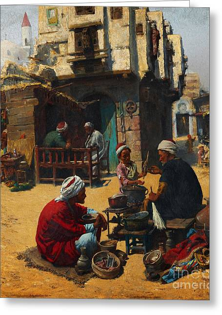 The Fuel Seller Greeting Card by Celestial Images