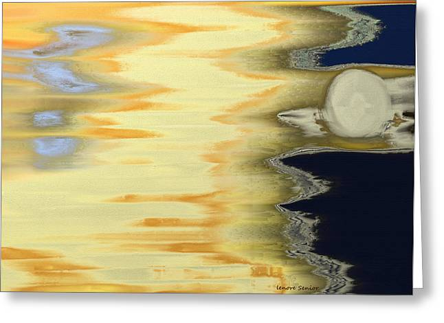 Sand Pattern Greeting Cards - The Full Moon Greeting Card by Lenore Senior