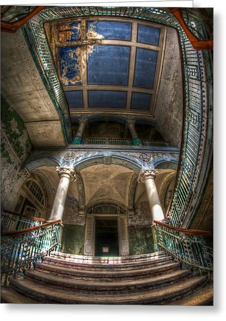 Entrance Door Digital Art Greeting Cards - The full view Greeting Card by Nathan Wright
