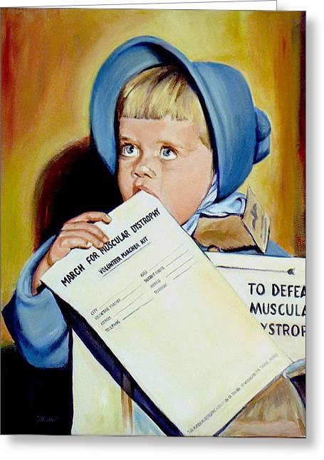 Sheila Diemert Paintings Greeting Cards - The Fundraiser Greeting Card by Sheila Diemert
