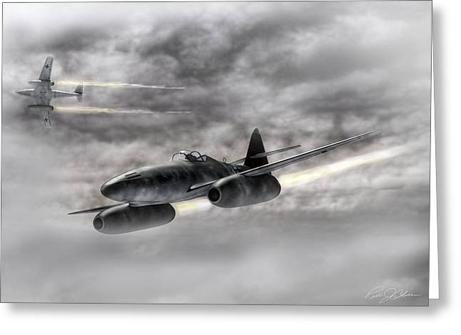 Me262 Greeting Cards - The Future Is Now Greeting Card by Peter Chilelli