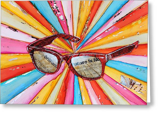Mixed Media Collages Greeting Cards - The Futures So Bright Greeting Card by Danny Phillips