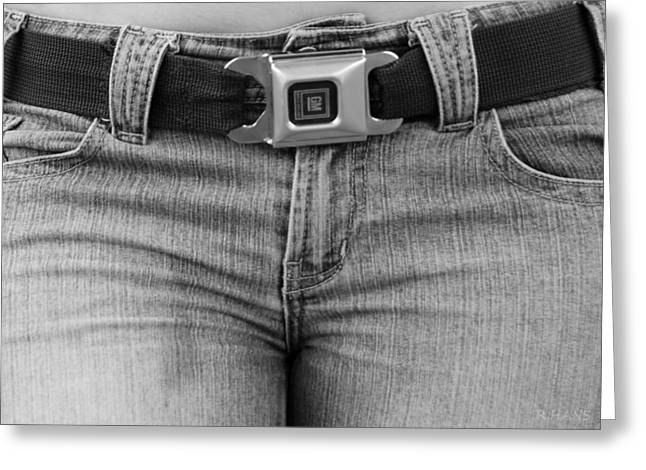 Hip Belt Greeting Cards - THE G M BELT in BLACK AND WHITE Greeting Card by Rob Hans