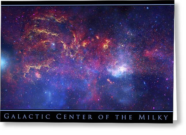 Stellar Death Greeting Cards - The Galactic Center of the Milky Way Greeting Card by Adam Mateo Fierro