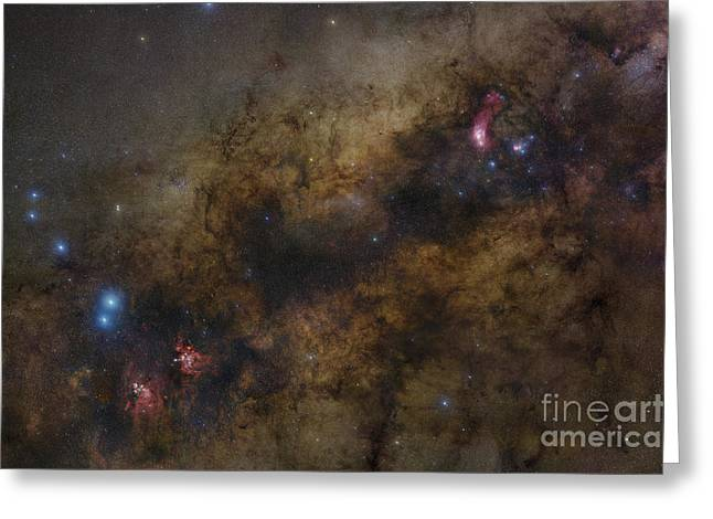 Interstellar Space Greeting Cards - The Galactic Center Of The Milky Way Greeting Card by Robert Gendler