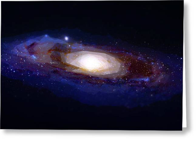 Galaxies Paintings Greeting Cards - The galaxy Greeting Card by Celestial Images