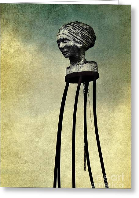 Woman Head Sculpture Greeting Cards - The galleon figure Greeting Card by Angela Doelling AD DESIGN Photo and PhotoArt