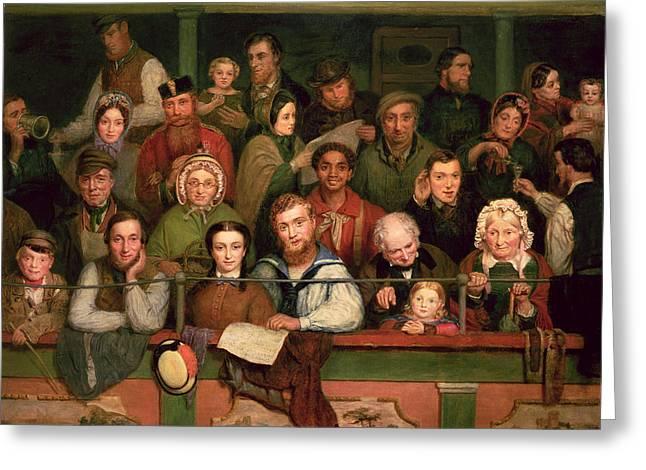 The Gallery, Drury Lane Greeting Card by John Watkins Chapman