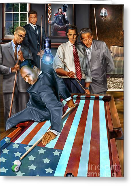 President Obama Greeting Cards - The Game Changers and Table runners Greeting Card by Reggie Duffie