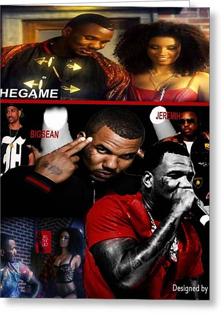 Miami Heat Digital Art Greeting Cards - The Game Greeting Card by Hi