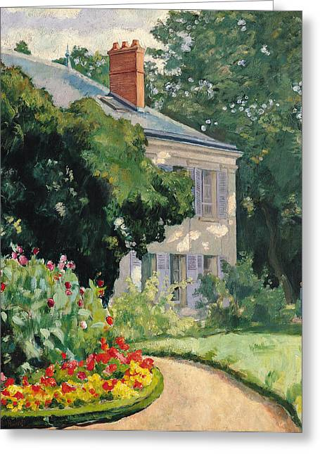 Le Jardin Greeting Cards - The Garden at Queue en Bri Greeting Card by Ernest Rouart