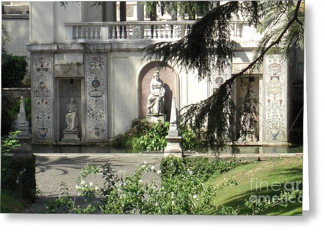 Borgia Greeting Cards - The Garden at the Popes Private Residence Greeting Card by Deborah Smolinske