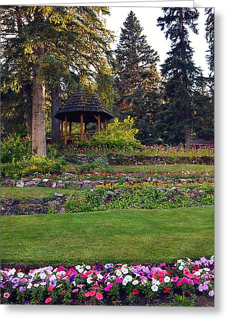 National Building Museum Greeting Cards - The Garden Gazebo Greeting Card by Maria Angelica Maira