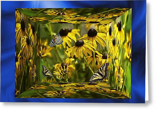Brown Eye Susan Greeting Cards - The Garden In Your Mind Greeting Card by Diane Schuster