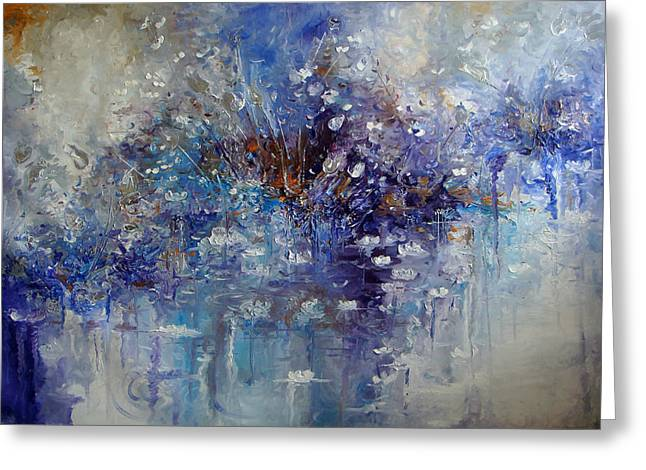 Cheap Paintings Greeting Cards - The Garden Monet didnt See Greeting Card by Hermes Delicio