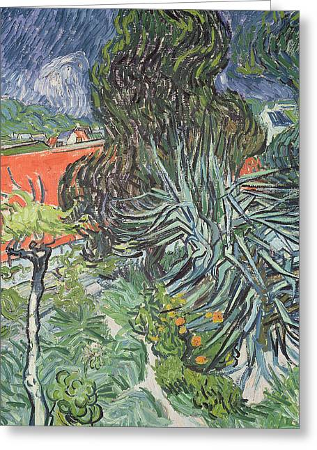 Le Jardin Greeting Cards - The Garden of Doctor Gachet at Auvers-sur-Oise Greeting Card by Vincent van Gogh
