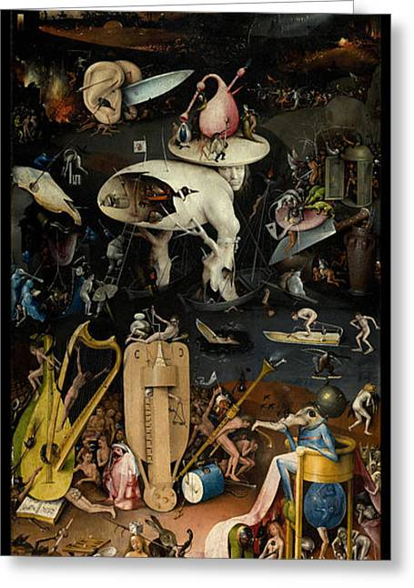 Earthly Greeting Cards - The Garden of Earthly Delights. Right Panel Greeting Card by Hieronymus Bosch