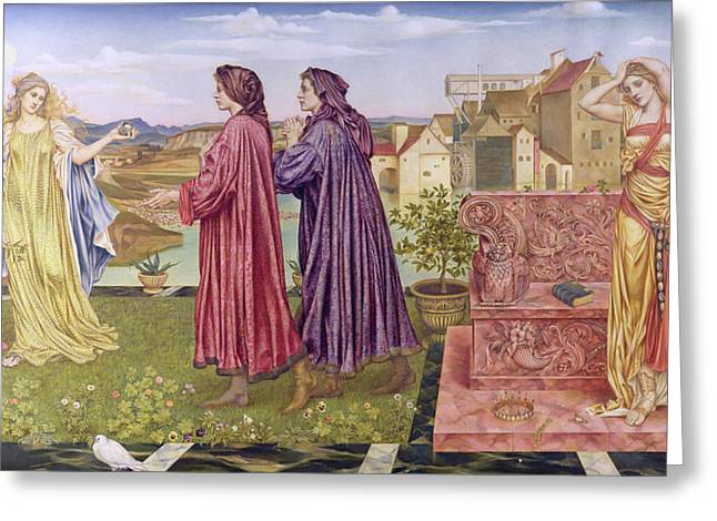 Williams Greeting Cards - The Garden of Opportunity Greeting Card by Evelyn De Morgan