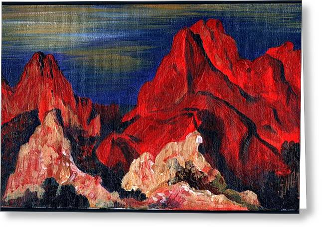 Mystical Landscape Greeting Cards - The Garden of the Gods I Greeting Card by Inga Vereshchagina