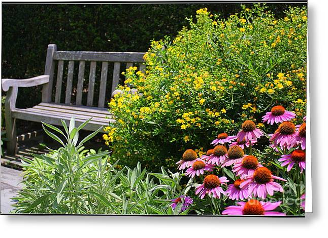 The Garden Of Tranquility Greeting Card by Dora Sofia Caputo Photographic Art and Design