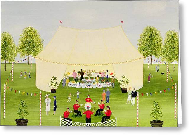 Bands Photographs Greeting Cards - The Garden Party Greeting Card by Mark Baring