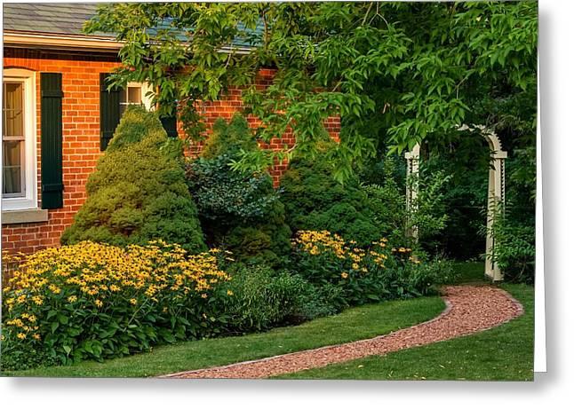 Print Photographs Greeting Cards - The Garden Path Greeting Card by Steve Harrington