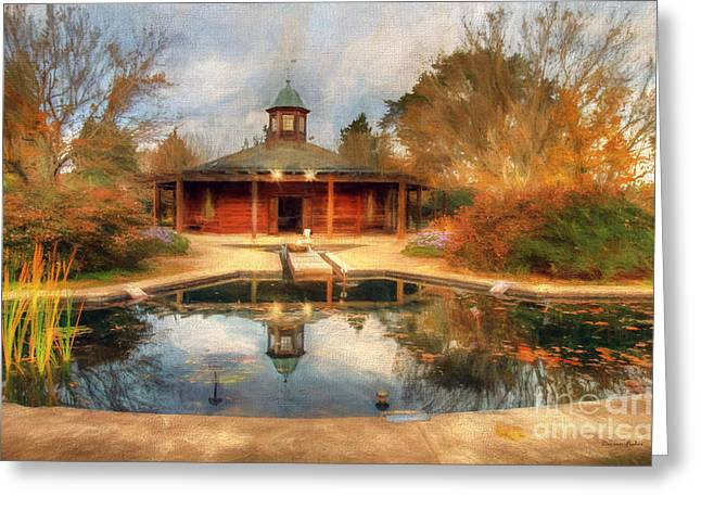 Wind Vane Greeting Cards - The Garden Pavilion Greeting Card by Darren Fisher