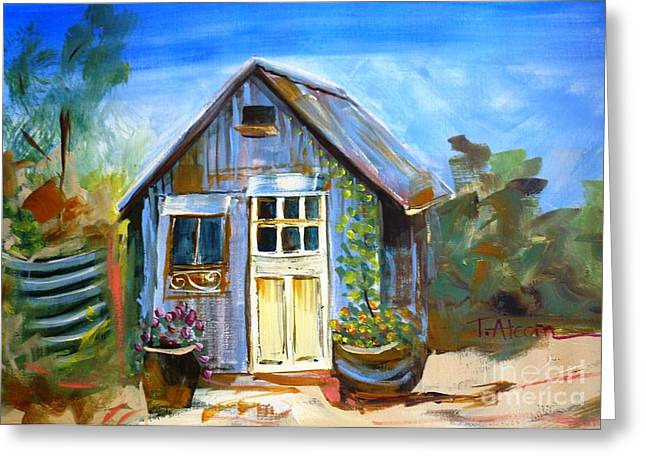 Warwick Paintings Greeting Cards - The Garden Shed Greeting Card by Therese Alcorn