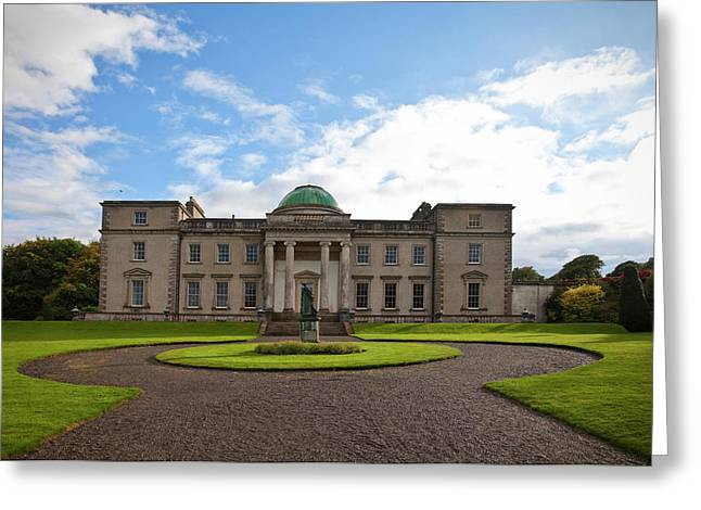 The Garden Side Of Emo Court Designed Greeting Card by Panoramic Images