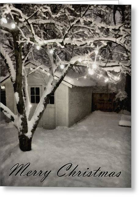 The Garden Sleeps Greeting Card by Michelle Calkins
