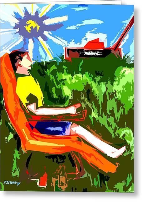Celebration Art Print Greeting Cards - The Gardening Can Wait Greeting Card by Patrick J Murphy