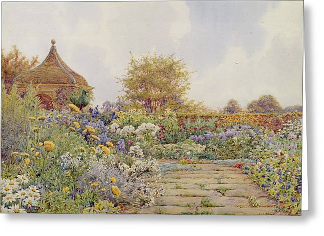 Summer Landscape Drawings Greeting Cards - The Gardens At Chequers Court Greeting Card by Ernest Arthur Rowe