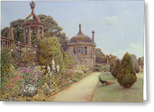 Path Drawings Greeting Cards - The Gardens At Montacute in Somerset Greeting Card by Ernest Arthur Rowe