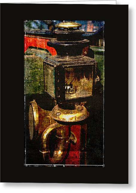 Photo Art Gallery Greeting Cards - The Gas Lamp and Horn Greeting Card by Thom Zehrfeld