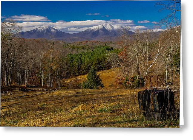 Bedford Hills Greeting Cards - The Gas Tank Winter View Greeting Card by Sherri Quick