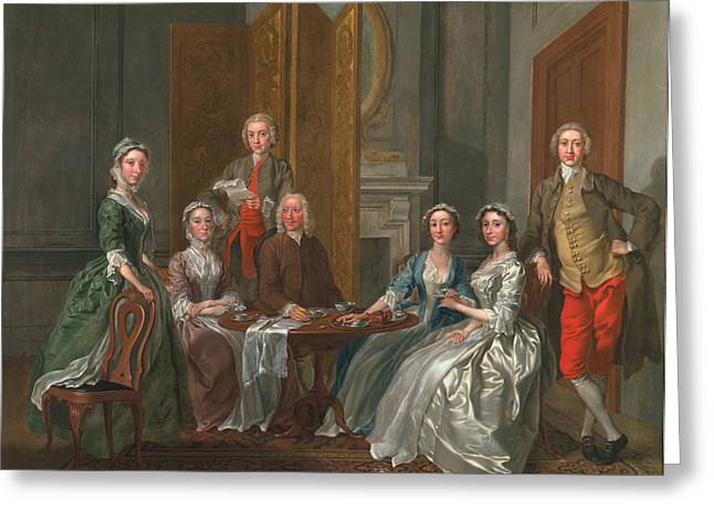 Family Portrait Greeting Cards - The Gascoigne Family, C.1740 Greeting Card by Francis Hayman