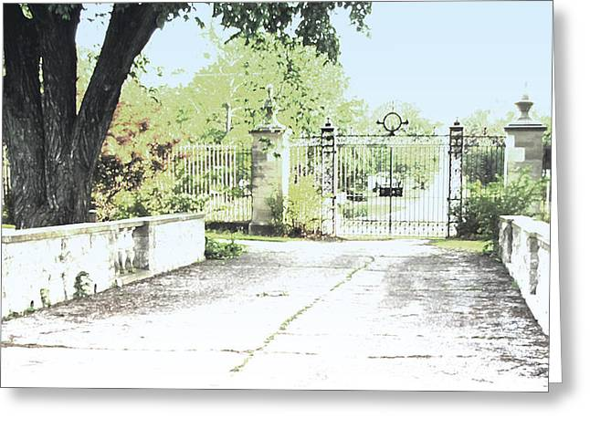 Manipulated Photography Greeting Cards - The Gate Greeting Card by Ann Powell