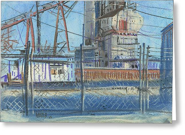 Fence Pastels Greeting Cards - The Gate Greeting Card by Donald Maier