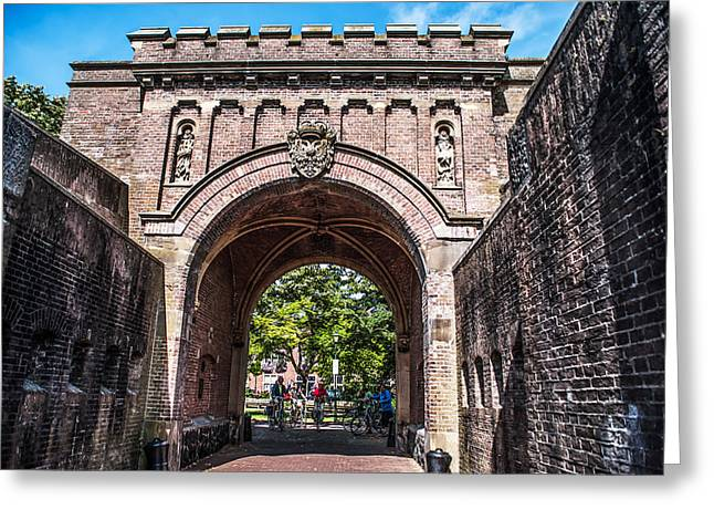 Het Greeting Cards - The Gate Entrance to Naarden. Netherlands Greeting Card by Jenny Rainbow