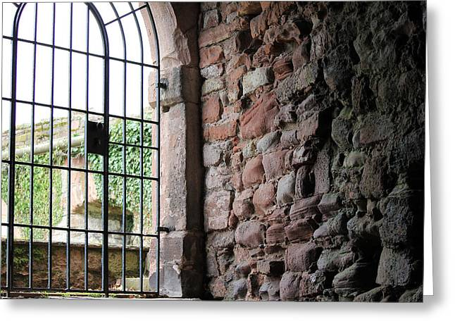 Laura Watts Greeting Cards - The Gate Greeting Card by Laura Watts